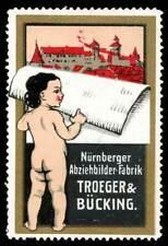 Germany Poster Stamp - Troeger & Bücking, Nürnberg - Decal & Sticker Mfg.