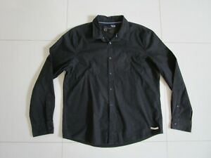 Men's Mossimo Black Slim Fit Long Sleeve Cotton Casual Shirt  Size XXL