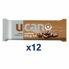 UCAN Energy Bars Coffee, 1.5oz, 12 Pack - Plant Based Protein Snack, Gluten No
