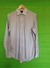 Jaeger Blue & White Cotton Tailored Shirt Size 15.5 BNWOT