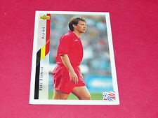 MARC DEGRYSE BELGIË DIABLES ROUGES FOOTBALL CARD UPPER USA 94 PANINI 1994 WM94