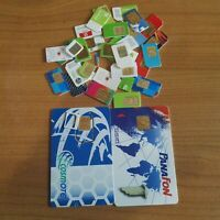 MIXED LOT 35 PIECES OLD SIM MOBILE PHONE CARDS