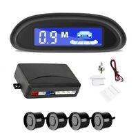 4 Parking Sensors Black LED Display Car Reverse Backup Radar Alarm System Kit