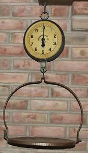 ANTIQUE VINTAGE PENN SCALE MFG. CO. 20 LB HANGING SCALE SERIES 820 WITH TRAY
