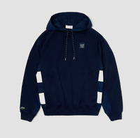 Lacoste Men's Long Sleeve Mis French Terry Nylon Sweatshirt with Hoodie $225