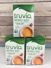 Truvia Sweetener 120 Packets 3 Boxes 2022 Stevia Calorie Free NEW