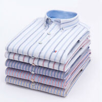 Mens Dress Shirts Long Sleeves Striped Business Camisas Casual Luxury WS6438