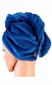 Hair Towel Wrap for Women, 100% Organic Cotton, Super Absorbent Quick Dry Turban