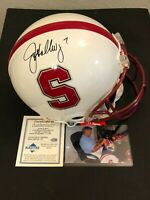 John Elway Stanford Cardinal Signed Autograph Authentic Full Size Helmet Radtke