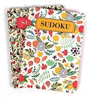 Travel SUDOKU Puzzle Books Brain Challenging Pack of 2 Books - Asst Difficulties