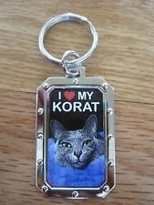 Key Chain I Love My Korat Cat Nos