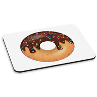 Chocolate Sprinkled Glazed Doughnut PC Computer Mouse Mat Pad - Food Funny