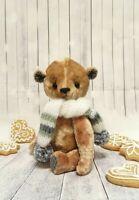 "handmade  OOAK Artist teddy bear  9"""