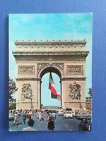 CPA AUTOMOBILES - PARIS ARC TRIOMPHE - BUS SIMCA  404 R4 R8 OPEL