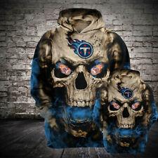 Tennessee Titans Hoodie Football Loose Sweatshirt Hooded 3D Sports Casual Jacket