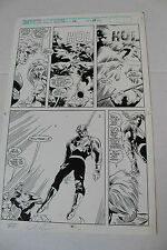 AVENGERS WEST COAST Original Art Issue 78 Page 25 Signed by Dave Ross 1992