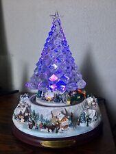Thomas Kinkade Reflections of Christmas Changing Lights Musical Tree