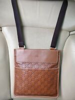 Gucci GG Guccissima Leather Messenger Bag Shoulder Crossbody Pouch Unisex 27639