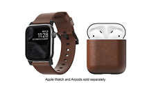 NOMAD Modern Bundle Leather Watch Strap for Apple Watch & AirPods Case 42/44mm🌊