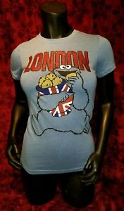 SMALL Mighty Fine Sesame Street Cookie Monster London T-shirt UK Punk Rock Retro
