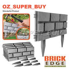 Grey  4-Pack Brick Edge Garden Edging easy to interlock hammer into soil