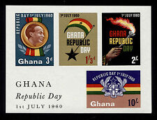 OPC 1960 Ghana Republic Day Imperf Souvenir Sheet Sc#81a MNH