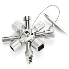 Universal Vierkantschlüssel Dreikantschlüssel Kreuztaste Schaltschrank Schlüssel