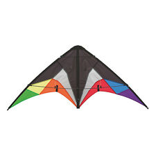 HQ Quickstep II Black Rainbow Sports Stunt Kite Ready 2 Fly - NEW