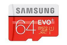 Samsung Micro SD XC 64GB 64G EVO Pls 80MB/SEC Class 10 C10 U1 UHS1 Memory Card