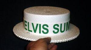 1970S ELVIS PRESLEY SUMMER FESTIVAL PROMOTIONAL HAT (GREEN) UNUSED FREE SHIPPING