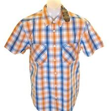 Bnwt Men's Wrangler Short Sleeve Checked Shirt RRP£59.99 Large Casual Fit