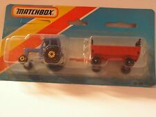 MATCHBOX TP-108 TRACTOR FORD & TRAILER W/GOLD WHEELS ROUE OR MIB NEUF BOITE