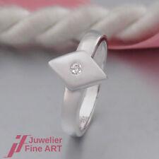 moderner RING - 1 Brillant (Diamant) ca. 0,03ct K/vsi - 14K/585 Weißgold