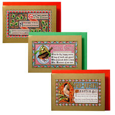 75 Medieval Illuminated Manuscript Mini Xmas Gift Cards XG0025
