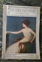 Antique Vtg Magazine The Delineator Dec 1909  Butterick Victorian