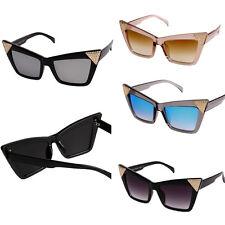 New Cat Eye Mirror Lens Diamante Sunglasses Ladies Womens UV Reflective Lot