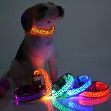 Collar Luminoso luz Led para Perro Gato Protector Correa de Seguridad Proteger