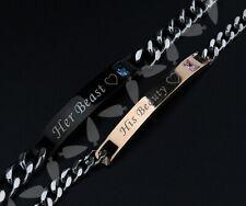Titanium Stainless Steel Beast Beauty Love Couple Bracelet Jewellery Friendship