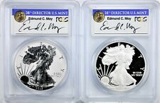 2012 S Proof Silver Eagle & Reverse Proof Set PCGS PR70 MOY POP 22! 75th Anniver