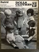 """Hayfield Knitting Pattern: Dolls Clothes, 14/18"""" Doll, 3ply/DK, H/9"""