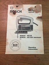 bosch PST 50 Jigsaw operating instructions