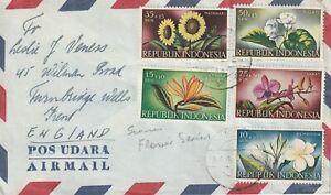 1958 Indonesia cover sent from Bandung to Turnbridge Wells UK