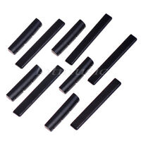 5 Set Ebony Ukulele Guitar Nut Saddle 4 String Slotted Black Parts Replacement