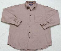 J. Ashford Cotton Pocket Dress Shirt Button Up Top Large Men's White Red Black