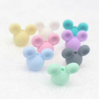 10pc Food Grade Silicone DIY Pacifier Clip Chain Accessories Mouse Head Cute New