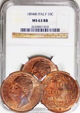 Italy - 1894 10 Centesimi graded by NGC as MS-63 BN (looks way undergraded)