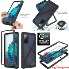 For Samsung Galaxy S20 FE 5G Full-Body Rugged Clear Case With Screen Protector
