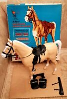 Thunderbolt Horse By Marx (Rarer UK version) with Accessories and Original Box