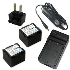 Charger + 2x Battery Pack for Panasonic PV-GS36 PV-GS39 PV-GS50 PV-GS55 PV-GS59