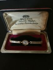 Vintage Hamilton Benrus Ladies Watch 10K Gold RGP  with Velvet Benrus Box